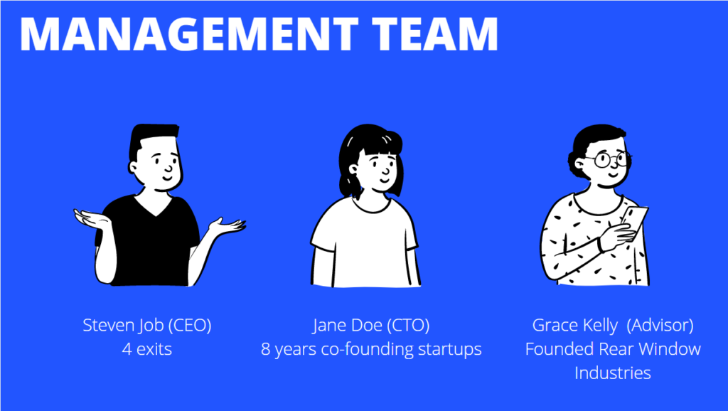 Your startup is run by you and your management team—people!