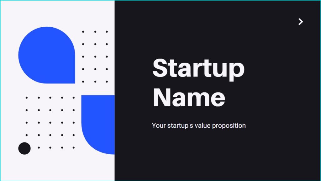 startup name - pitch deck essentials